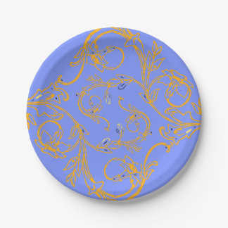 Only Periwinkle blue Paper Plate