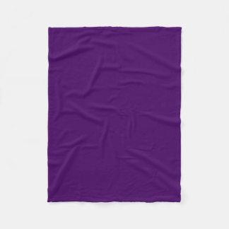 Only purple deep cool solid color OSCB15 Fleece Blanket