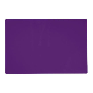 Only purple deep cool solid color OSCB15 Placemat