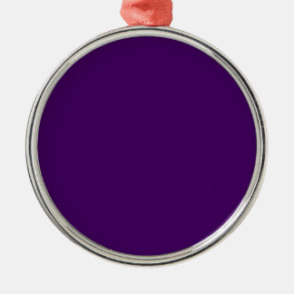 Only Purple deep solid OSCB15 ornament with ribbon