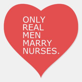 Only Real Men Marry Nurses Heart Sticker