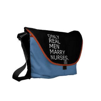 Only Real Men Marry Nurses Messenger Bags