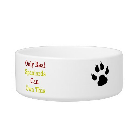 Only Real Spaniards Can Own This Cat Water Bowls