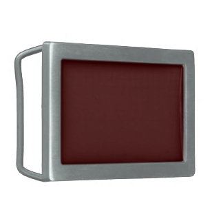 Only red brick gorgeous solid color background rectangular belt buckle