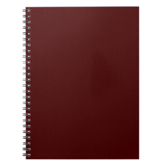 Only red brick gorgeous solid color OSCB16 Spiral Note Book