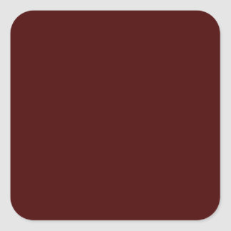 Only red brick gorgeous solid color OSCB16 Square Sticker