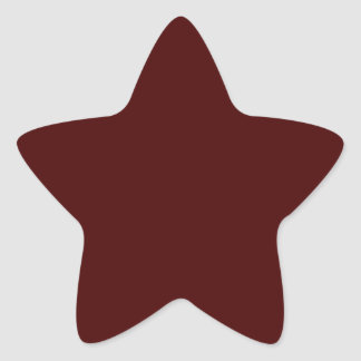 Only red brick gorgeous solid color OSCB16 Star Sticker