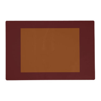 Only Red brick rust panel solid color Placemat