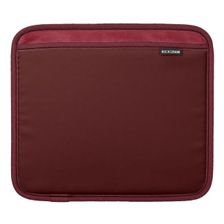 Only Red brick solid color iPad Sleeves