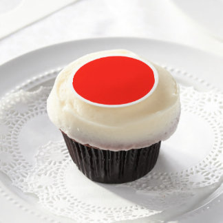Only red crimson cool solid color background edible frosting rounds