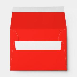 Only red crimson cool solid color background envelope