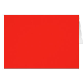 Only Red crimson solid color   A blank slate Card