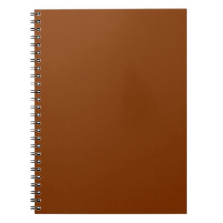 Only Red rust solid color Notebook