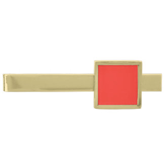 Only red tomato rustic solid color background gold finish tie bar