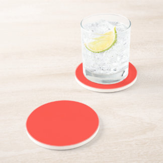 Only red tomato rustic solid color beverage coasters