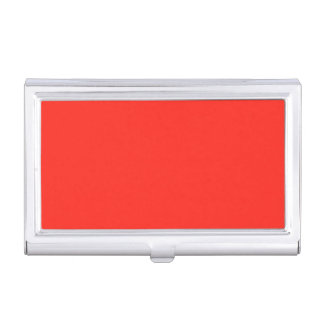 Only red tomato rustic solid color business card case
