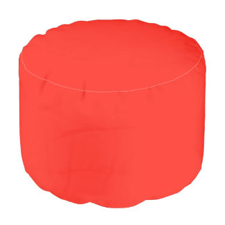 Only red tomato rustic solid color custom pouf round pouf
