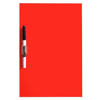 Only red tomato rustic solid color dry erase whiteboards