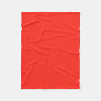 Only red tomato rustic solid color OSCB35 Fleece Blanket