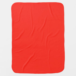 Only red tomato rustic solid color OSCB35 Stroller Blanket