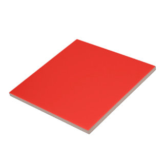Only red tomato rustic solid color OSCB35 Tile
