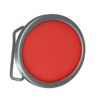 Only red tomato rustic solid color oval belt buckle