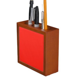 Only red tomato rustic solid color pencil holder