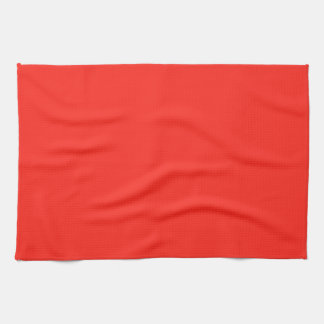 Only red tomato rustic solid color towels