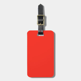 Only red tomato rustic solid OSCB35 color Luggage Tag