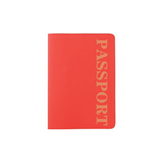 Only red tomato rustic solid OSCB35 color Passport Holder