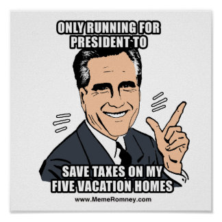 ONLY RUNNING FOR PRESIDENT TO SAVE TAXES POSTERS