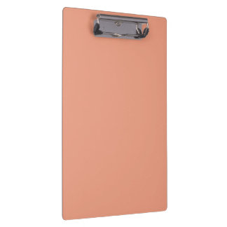 Only salmon pink pretty solid color clipboard