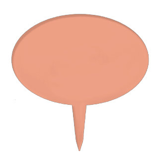 Only salmon pink pretty solid color OSCB17 Cake Topper