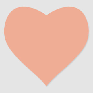 Only Salmon solid color Heart Stickers