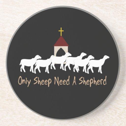 Only Sheep Need Shepherd Beverage Coaster