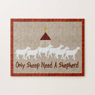 Only Sheep Need Shepherd Jigsaw Puzzle