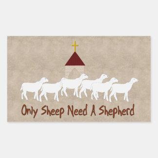 Only Sheep Need Shepherd Sticker