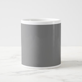 Only simple gray solid color background giant coffee mug