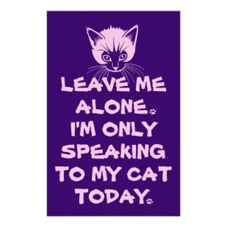 Only Speaking To My Cat Today Stationery