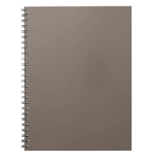 Only Taupe b solid color Spiral Notebooks