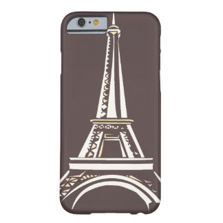 Only Taupe dark Eiffel Tower silhouette OSCB48 Barely There iPhone 6 Case