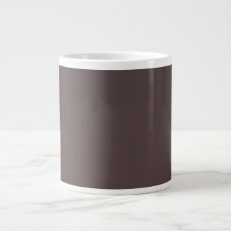 Only Taupe dark solid color Giant Coffee Mug