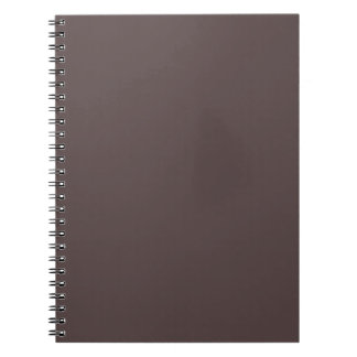 Only Taupe dark solid color Spiral Note Book
