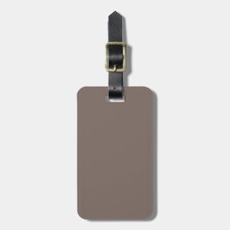 Only taupe gorgeous solid color background tag for bags