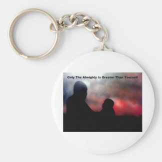 Only The Almighty Is Greater Basic Round Button Keychain
