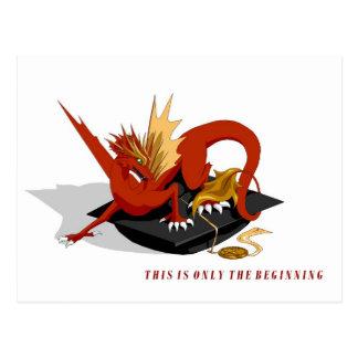 Only the Beginning Royal Dragon Graduation Poscard Postcard