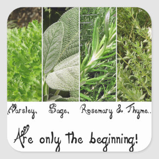 Only the Beginning Square Sticker