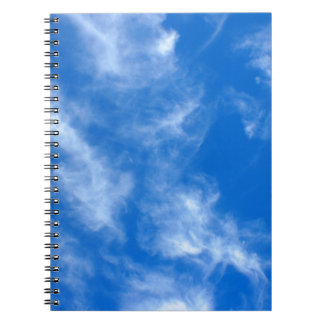 Only the blue sky with cirrus clouds spiral notebook
