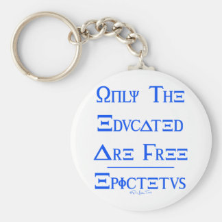Only the Educated are Free Basic Round Button Keychain