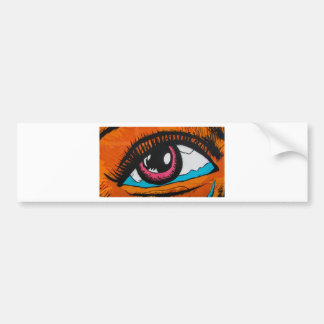 Only the eyes can tell bumper sticker